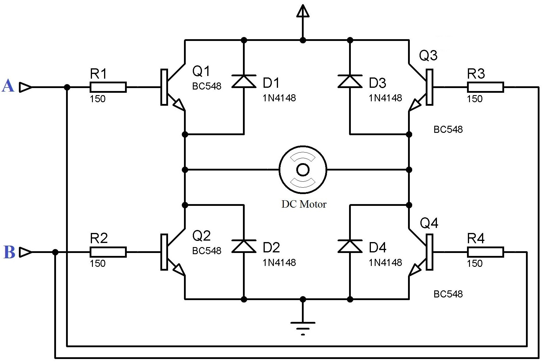 Webaudiohaptics Tutorial On Haptics With Web Audio At The H Bridge Ups Circuit Diagram High Torque And Servo Motors